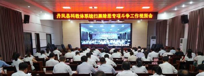 丹凤县科教体局召开科教体系统扫黑...